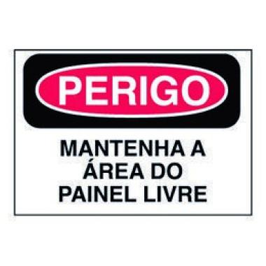 Etiqueta de Perigo - Mantenha a Área do Painel Livre