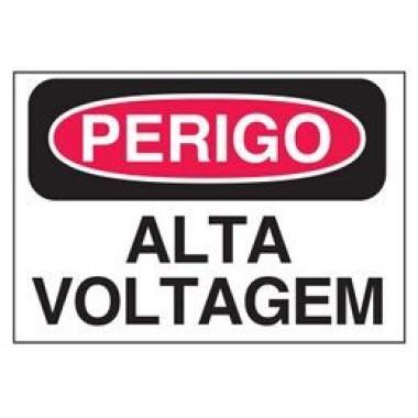 Etiqueta de Perigo - Alta Voltagem