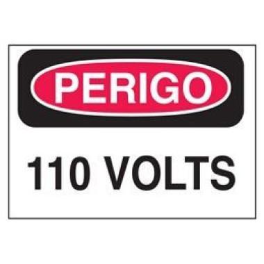 Etiqueta de Perigo - 110 Volts