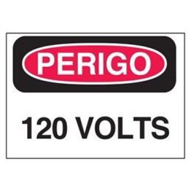 Etiqueta de Perigo - 120 Volts