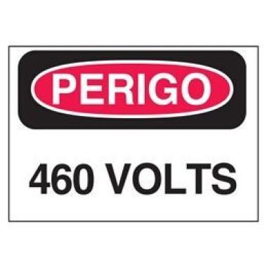 Etiqueta de Perigo - 460 Volts