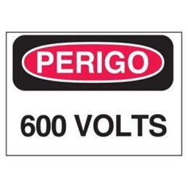 Etiqueta de Perigo - 600 Volts