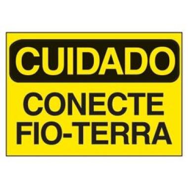 Etiqueta de Cuidado - Conecte Fio-Terra