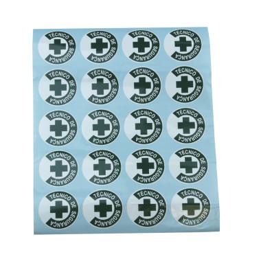 Adesivos para Capacetes e Crachás - Técnico de Segurança