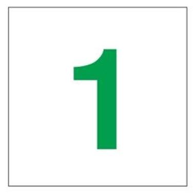 Placa Número 1 Pictograma Preto