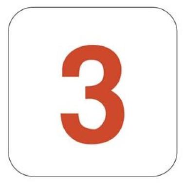 Placa Número 3 Pictograma Verde