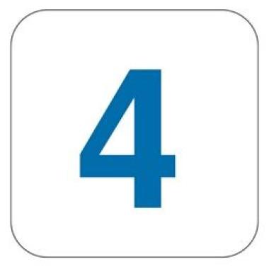 Pictograma - Número 4 - Azul