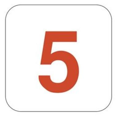 Placa Número 5 Pictograma Verde