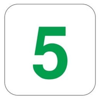 Placa Número 5 Pictograma Preto