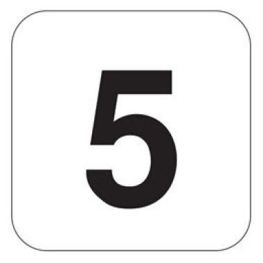 Pictograma - Número 5 - Preto