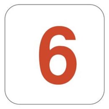 Pictograma - Número 6 - Vermelho
