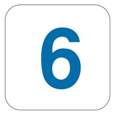 Pictograma - Número 6 - Azul