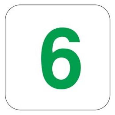 Pictograma - Número 6 - Verde