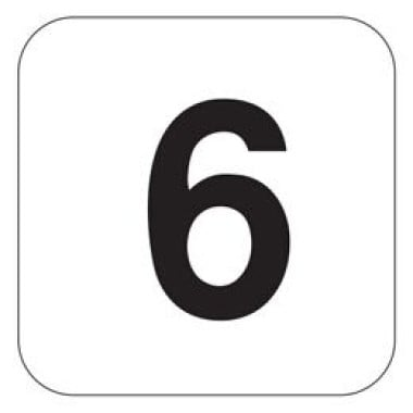 Placa Número 6 Pictograma Azul