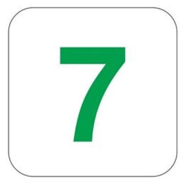 Placa Número 7 Pictograma Preto