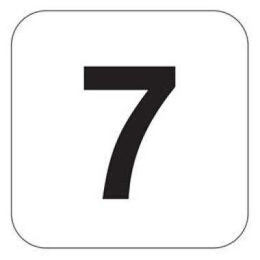 Placa Número 7 Pictograma Azul