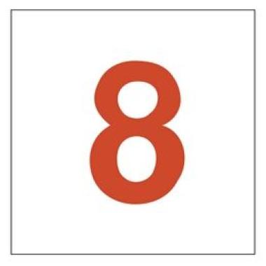 Placa Número 8 Pictograma Verde