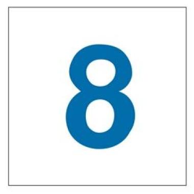 Pictograma - Número 8 - Azul