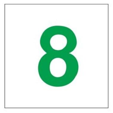 Placa Número 8 Pictograma Preto
