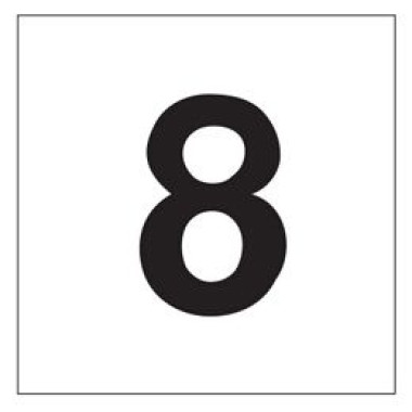 Pictograma - Número 8 - Preto