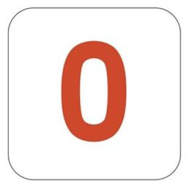 Pictograma - Número 0 - Vermelho