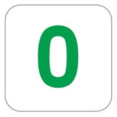 Placa Número 0 Pictograma Preto