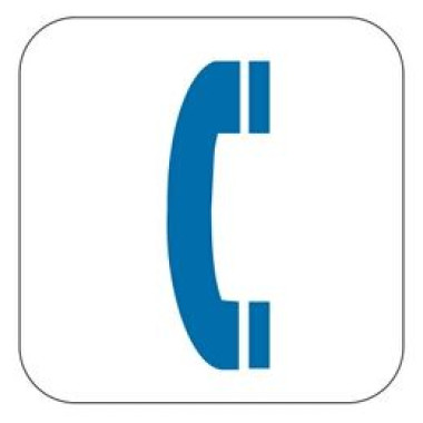 Pictograma - Símbolo Telefone - Azul
