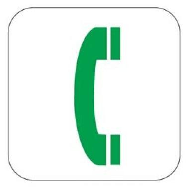 Placa Telefone Pictograma Preto
