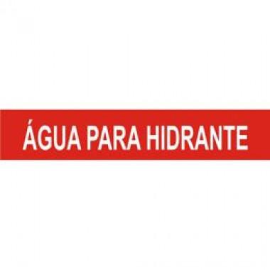 Marcador de Tubulação Autoadesivo - Água para Hidrante (Seton)