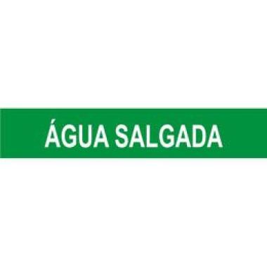 Marcador de Tubulação Autoadesivo - Água Salgada