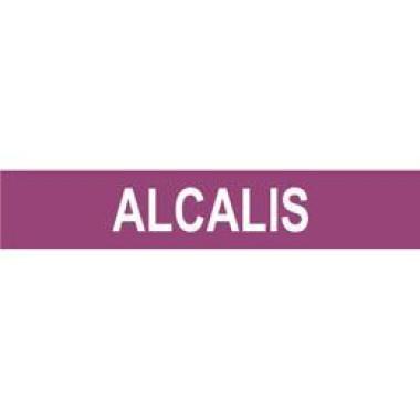 Marcador De Tubulação Autoadesivo Alcalis