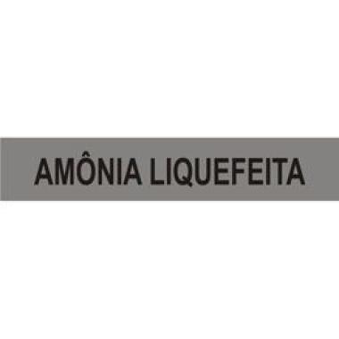 Marcador de Tubulação Autoadesivo - Amônia Liquefeita