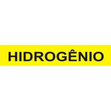 Marcador De Tubulação Para Uso Externo Hidrogênio