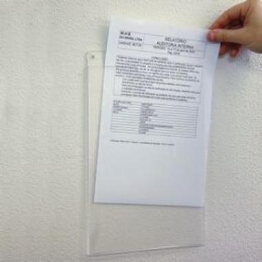 Suporte Acrílico A4 para Mensagens - Vertical
