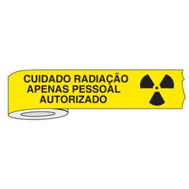 Fita para isolamento de área cuidado radiação apenas pessoal autorizado