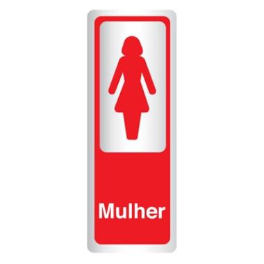 Placa De Banheiro - Mulher