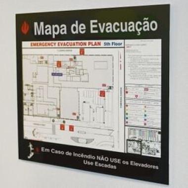 Suporte para Mapa de Evacuação