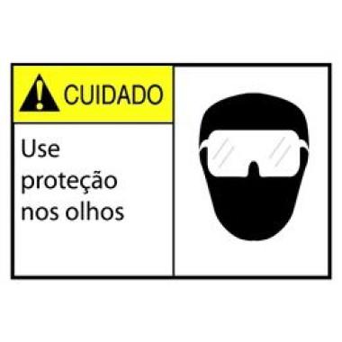 Etiqueta de Cuidado - Use Proteção nos Olhos