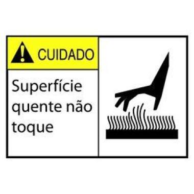 Etiqueta de Cuidado - Superfície Quente Não Toque