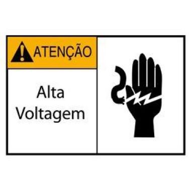 Etiqueta de Atenção - Alta Voltagem