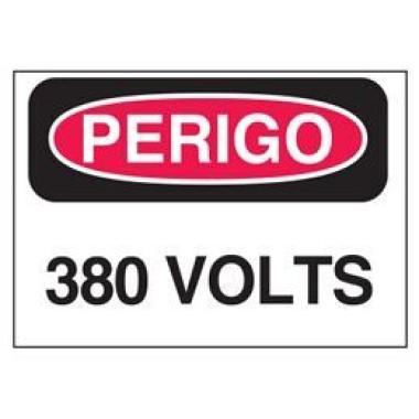 Etiqueta de Perigo - 380 Volts