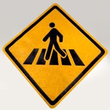 "Sinalizacao ""Travessia de Pedestre Sinalizada"""