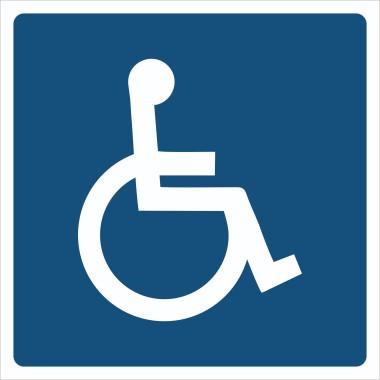 Pictograma - Símbolo Cadeirante - Azul