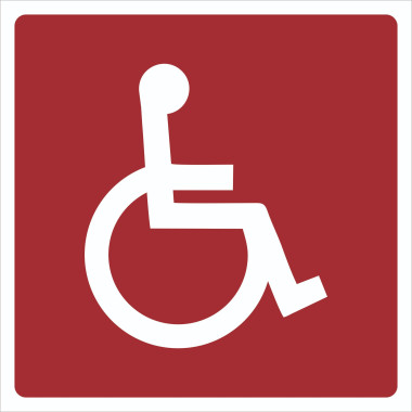 Pictograma - Símbolo Cadeirante - Vermelho