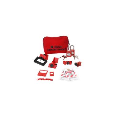 Kit de Bloqueio de Disjuntores Monopolares com Cadeados de Plástico