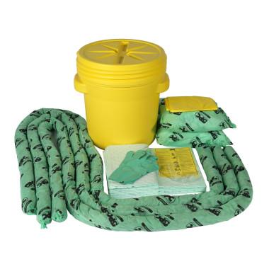 Kit de Emergência com Balde de 75 litros para Produtos Químicos