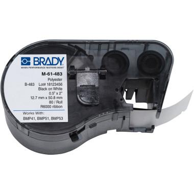 Etiqueta de Poliéster Ultra-Agressivo ToughBond® Branca (12,7mm x 50,8mm) | BMP41, BMP51 e BMP53