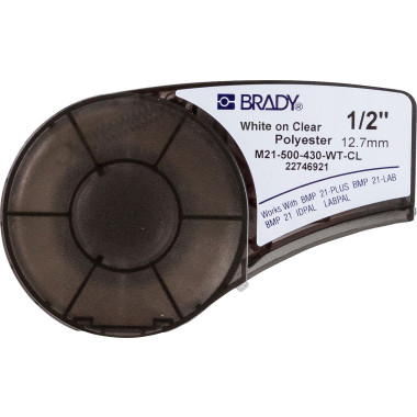 Etiqueta de Poliéster Transparente (12,7mm x 6,4m) | BMP21-Plus, BMP21-LAB, BMP21 e LABPAL™