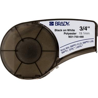 Etiqueta de Poliéster Branca (19,05mm x 6,4m) | BMP21-Plus, BMP21-LAB e BMP21