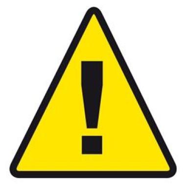 Etiqueta de Alerta de Segurança